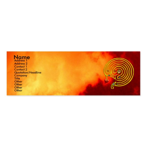 HYPER LABYRINTH ,red yellow clouds Pack Of Skinny Business Cards