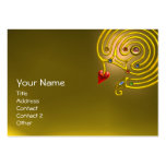 HYPER LABYRINTH TOPAZ ,red yellow Pack Of Chubby Business Cards