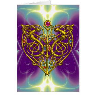 HYPER VALENTINE / Gold Celtic Heart Card