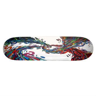 Hyperblended Jelly Beans - Streetart Sk8 Deck 21.3 Cm Mini Skateboard Deck