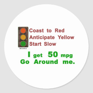 Hypermiler Coast Anticipate Start Classic Round Sticker