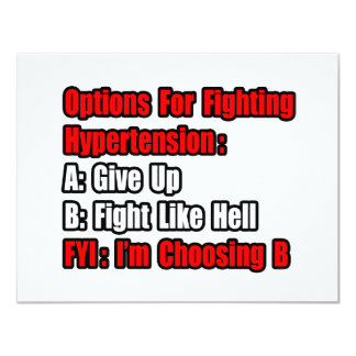 Hypertension Fighting Options 11 Cm X 14 Cm Invitation Card