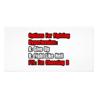 Hypertension Fighting Options Photo Cards