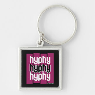 Hyphy Purple Silver-Colored Square Key Ring