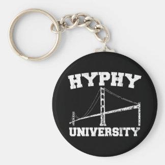 Hyphy University yay area Basic Round Button Key Ring