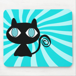 Hypno Cat with Too Much Catnip Mouse Mat