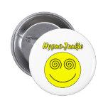Hypno-Junkie Smiley Pinback Buttons