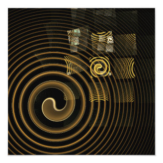 Hypnosis Abstract Art 13 Cm X 13 Cm Square Invitation Card