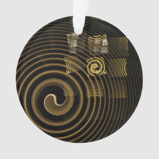 Hypnosis Abstract Art Acrylic Circle Ornament