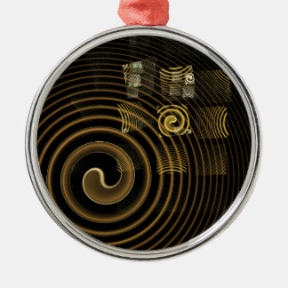 Hypnosis Abstract Art Round Christmas Ornament