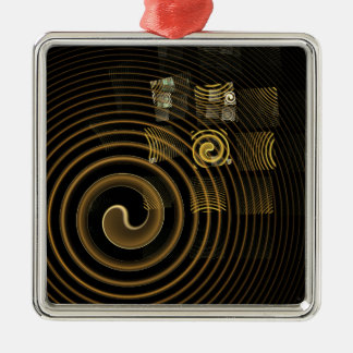 Hypnosis Abstract Art Square Silver-Colored Square Decoration