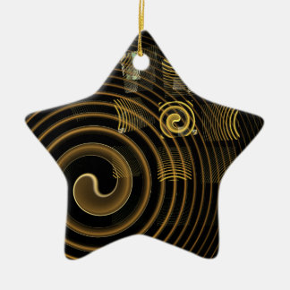 Hypnosis Abstract Art Star Ornament