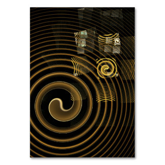 Hypnosis Abstract Art Table Card