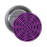 Hypnosis Circles pink Pinback Button