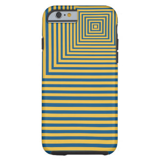 Hypnosis Meditation Focal Point Blue and yellow Tough iPhone 6 Case