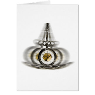 Hypnosis Spinning Clock Greeting Card