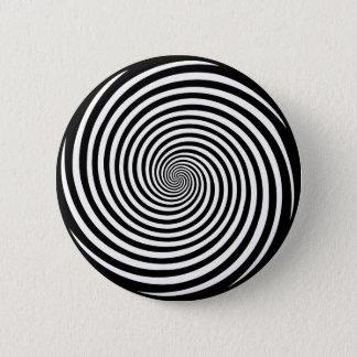 Hypnosis Spiral 6 Cm Round Badge