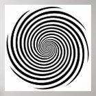 Hypnosis Spiral Poster