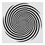 Hypnosis Spiral Poster