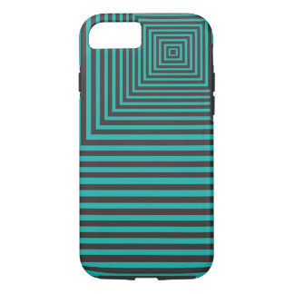 Hypnosis Squared Pattern Teal and Black iPhone 8/7 Case
