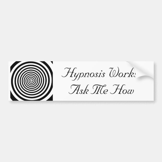 Hypnosis Works Bumper Sicker Bumper Sticker