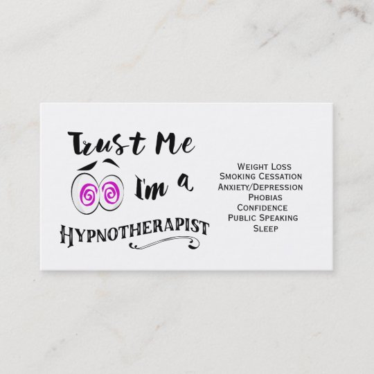 Hypnotherapy Business Card Hypnotherapist Holistic Zazzle