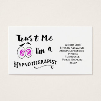 Hypnotherapy business card hypnotherapist holistic
