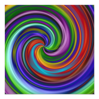 Hypnotic 13 Cm X 13 Cm Square Invitation Card