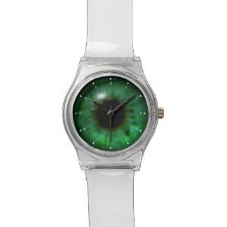 Hypnotic Beautiful Deep Green Eye Watch