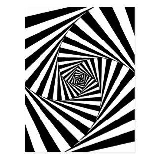 Hypnotic Black and White Pattern Postcard