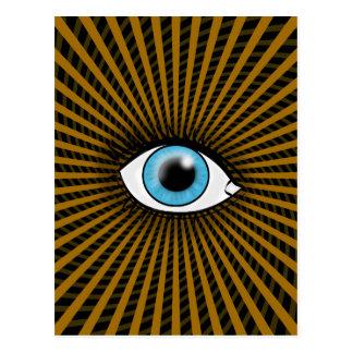 Hypnotic Blue Eye Postcard