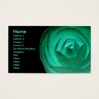 Hypnotic Camellia Flower Custom Business Card