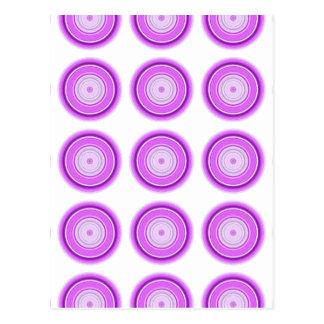 Hypnotic Circle Purple Postcard