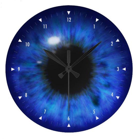 Hypnotic Deep Blue eyes Clocks