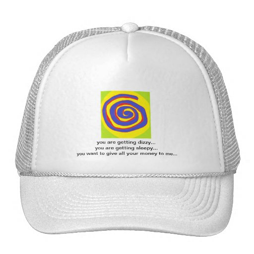 HYPNOTIC DESIGN FOR ALL OCCASIONS TRUCKER HATS