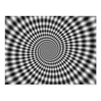 HYPNOTIC DESIGN POSTCARD