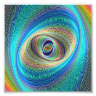 Hypnotic eye photographic print