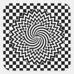 Hypnotic eye square stickers