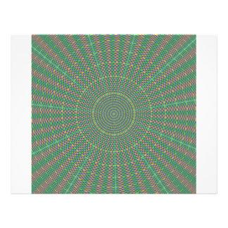 Hypnotic green star 21.5 cm x 28 cm flyer