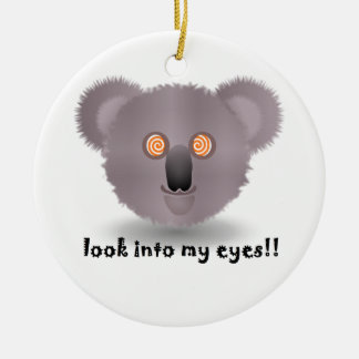 hypnotic koala christmas ornament