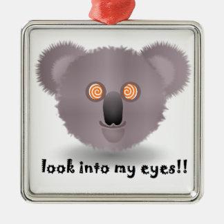 hypnotic koala christmas ornament