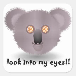 hypnotic koala square sticker