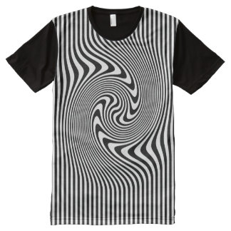 Hypnotic Op Art Print T-shirt All-Over Print T-Shirt