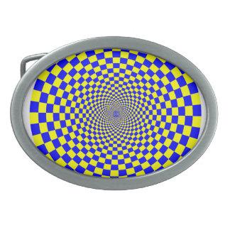 Hypnotic Optical Illusion Belt Buckle