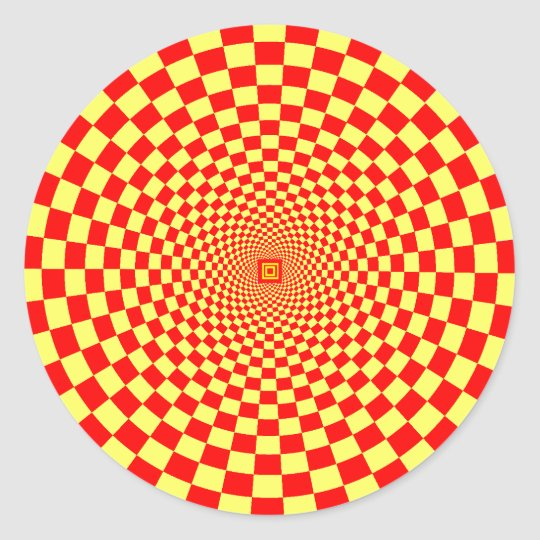 Hypnotic Optical Illusion Classic Round Sticker