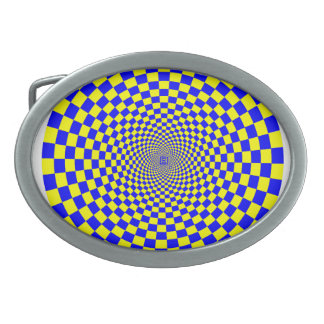 Hypnotic Optical Illusion Oval Belt Buckles