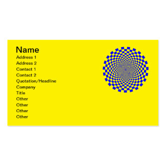 Hypnotic Optical Illusion Pack Of Standard Business Cards