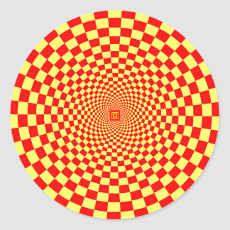 Hypnotic Optical Illusion Round Sticker