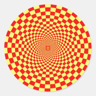 Hypnotic Optical Illusion Round Sticker