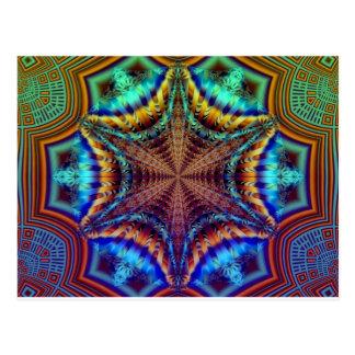 Hypnotic Radiating Fractal Postcard
